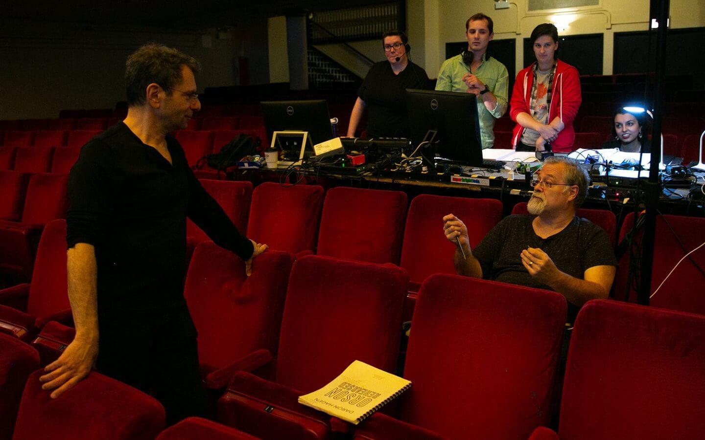 CCPA Artist Faculty Daron Hagen prepares for a performance.