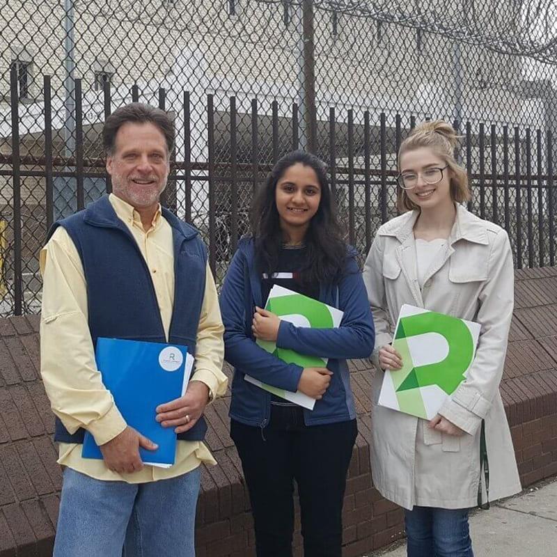 Students from left are: Timothy Mulholland, Sonali Patel, and Nicolette Marasa
