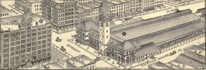 Dearborn Street Station. Bird's-eye View and Guide to Chicago (Chicago: Rand, McNally & Co., 1893)