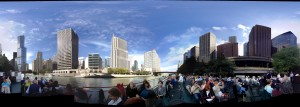 Taking the class on a Chicago Architecture Foundation river cruise.