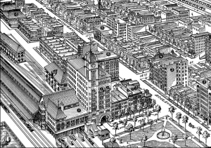 Twelfth Street Station. Bird's-eye View and Guide to Chicago (Chicago: Rand, McNally & Co., 1893)