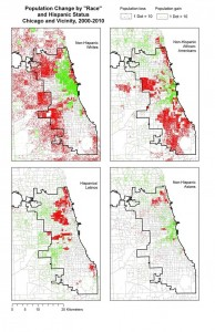 Population change by race and ethnicity, 2000-2011.  Planning Chicago
