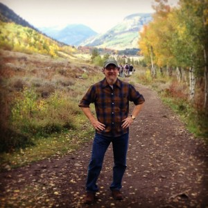 On a hike through an aspen forest outside of Crested Butte CO, Sept 2014 (L. Watt)