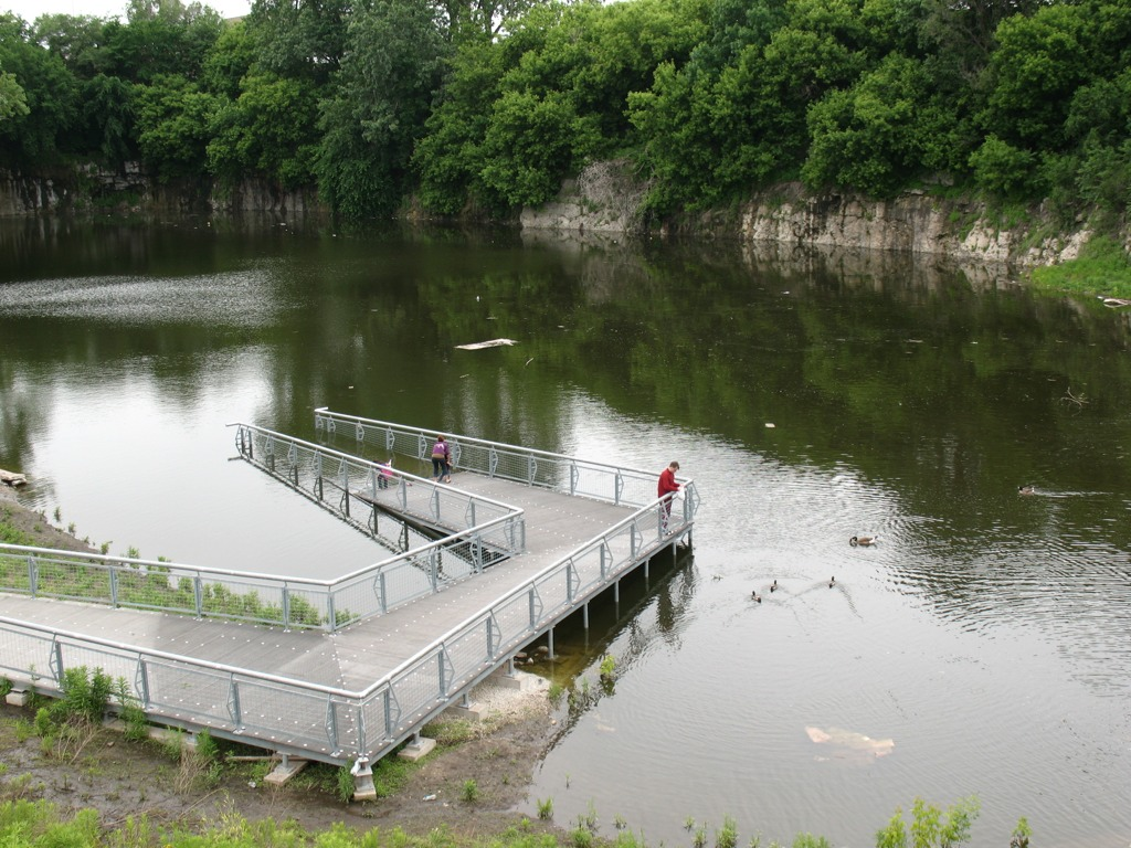 An urban nature adventure with professor mike bryson for Stocked fishing ponds