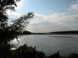 The Wisconsin River, near Aldo Leopold's shack north of Baraboo WI (M. Bryson)