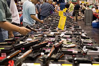 A gun show at Houston's Convention Center