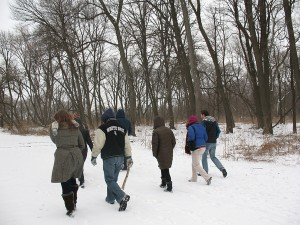 Hiking the trail at Portage Woods; Joliet and Marquette were here about 340 years ago