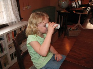 """Testing the eye for """"sidedness"""" in a human subject (Youth Category)"""