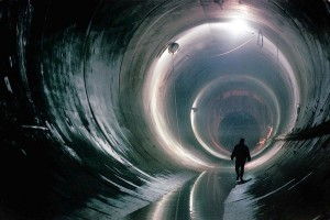 One of the tunnels within the Deep Tunnel / TARP system (photo: Chicago Tribune)