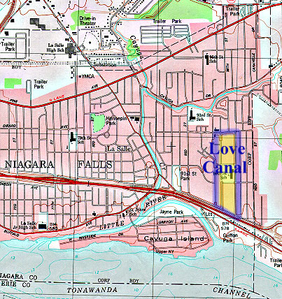 Fig. 1. Map of Love Canal Emergency Declaration Area and ...