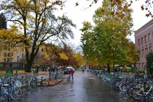 13th Street at the Univ of Oregon in Eugene OR