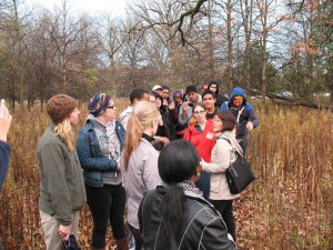 SUST students visit the North Park Village Nature Center, Fall 2012 (M. Bryson)