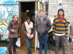 SUST students working at the Eden Place Nature Center on Chicago's South Side, 2 Dec 2014 (M. Bryson)