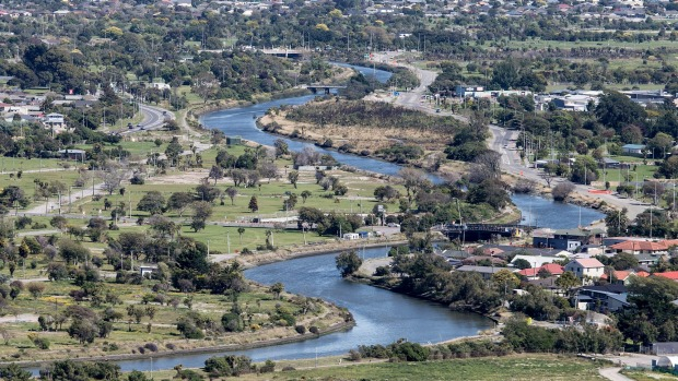 Otakaro-Avon River, Christchurch NZ (photo: Ian McGregor, The Press, 15 July 2016)