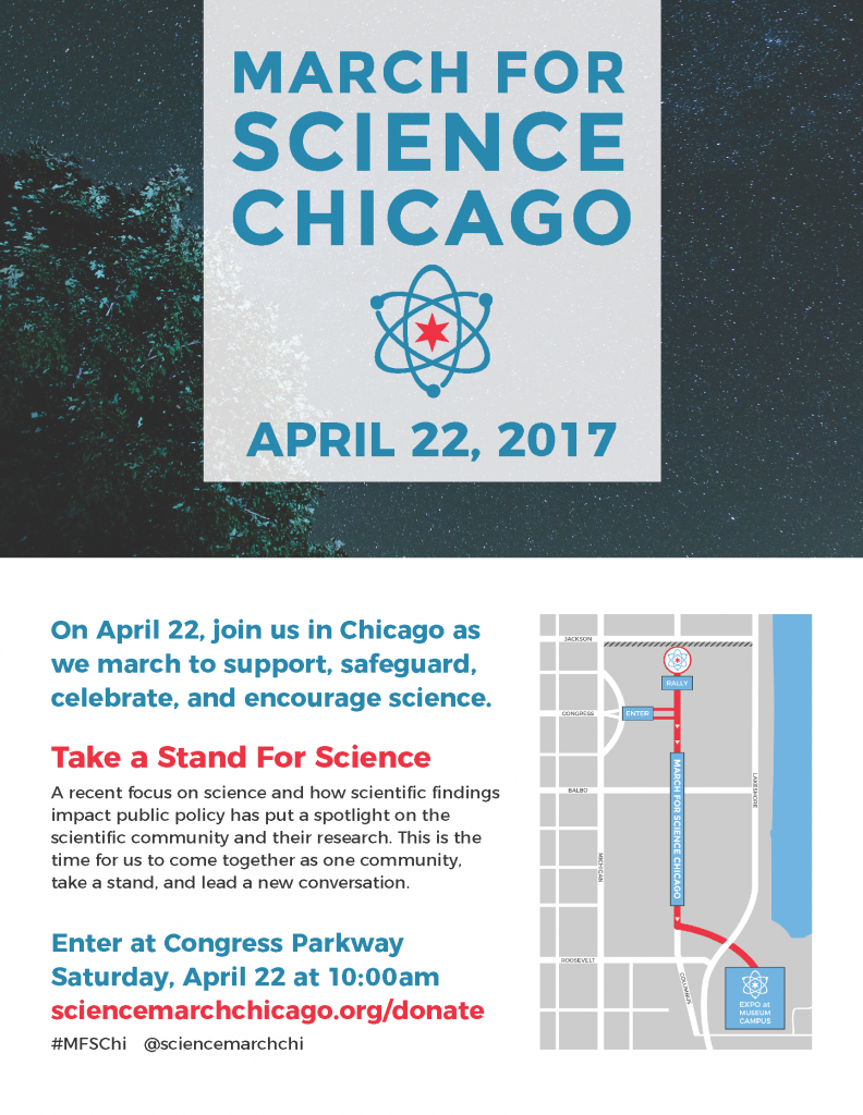 March for Science Chicago 2017 with route