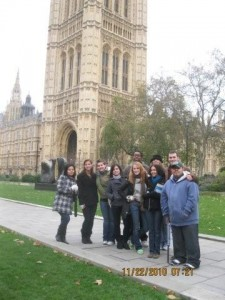 Fall 2010 Class outside Houses of Parliament
