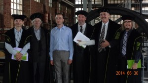 Presenting Dr. Deconinck (and his limerick writing Jury), KU Leuven, Belgium 2014: Frank Verboven, Erik Schokkaert, Koen Deconinck, Jo Swinnen, Julian Alston, and Stephen T. Ziliak