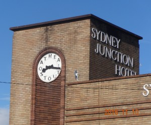 Oatmeal Stout clock Newcastle Australia near Hamilton Station.