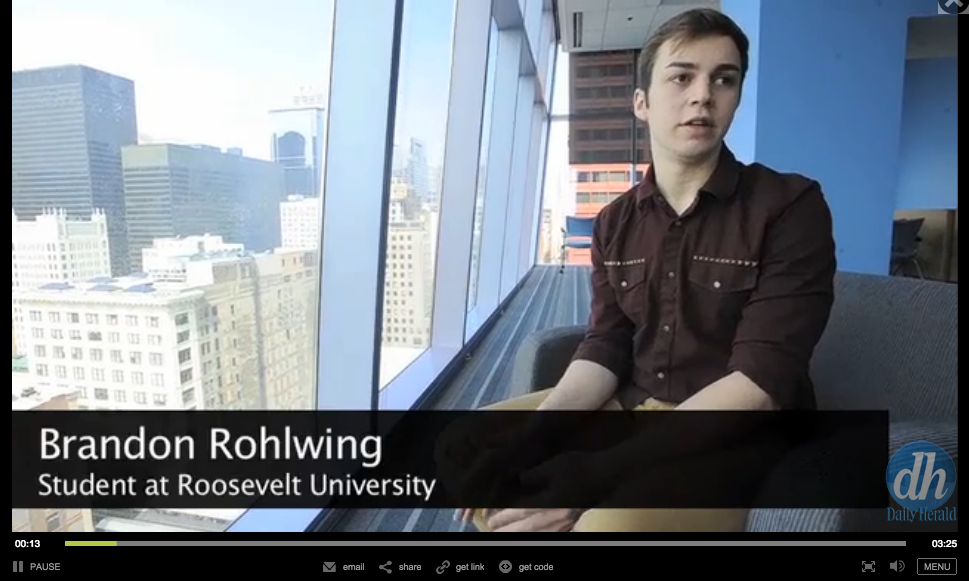 still from video interview with Brandon Rohlwing