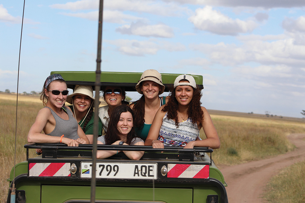 Roosevelt students travel into the Tanzanian savannah