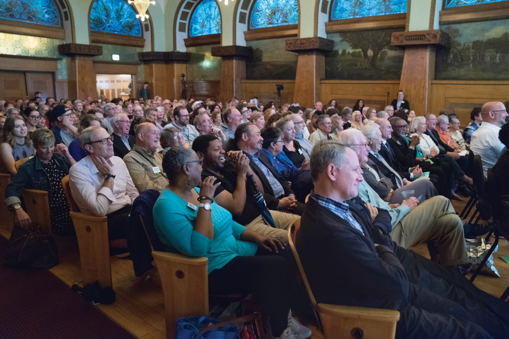 Photo of Audience watching American Dream Conference Speakers