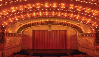 The Auditorium Theatre of Roosevelt University. Above: Roosevelt's Auditorium Theatre 50 years ago.