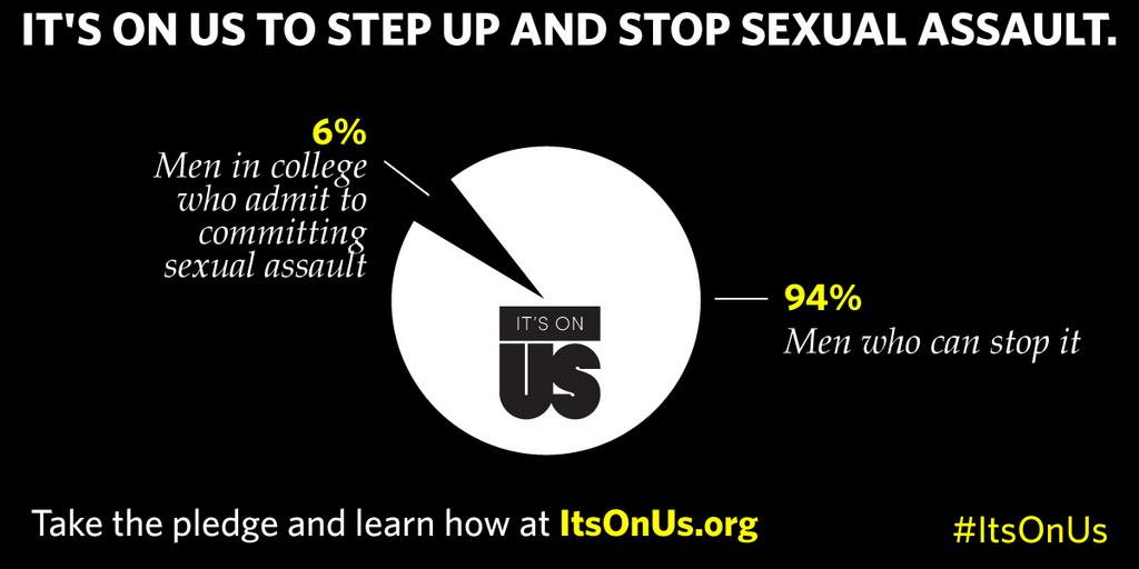 It's On Us To Step Up And Stop Sexual Assault