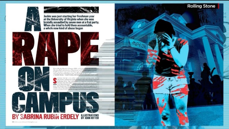 """A Rape On Campus"" Magazine Spread"