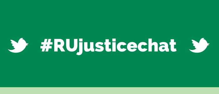 #RUjusticechat on sustainability and social justice