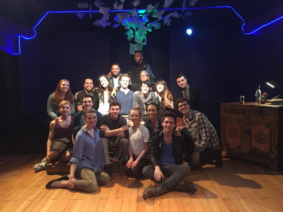 The cast of Spring Awakening with members of the Youth Empowerment Performance Project for LGBTQ youth who have experienced homelessness.