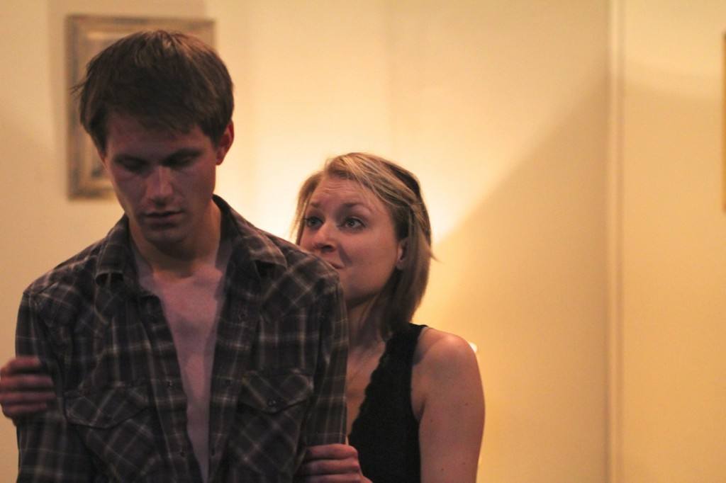 Roosevelt alumni Derek Herman and Hillary Horvath in The Stonewater Rapture.