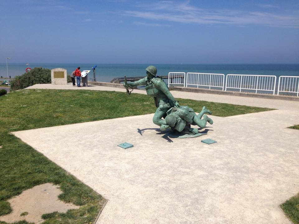 The statue at Omaha Beach