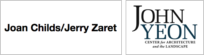 Joan Childs/Jerry Zaret and John Yeon Center logos.
