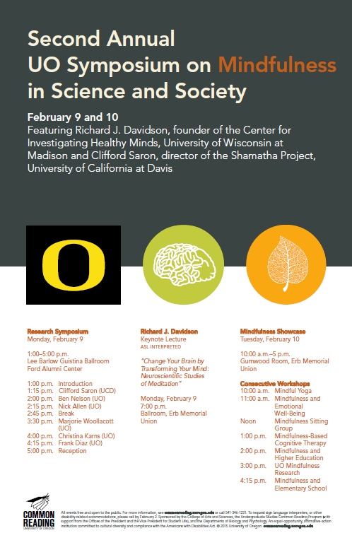 mindfulness symposium poster