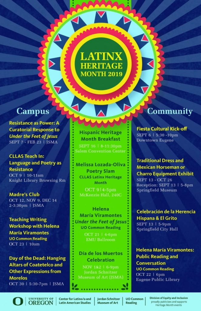 UO Latinx Heritage Month Poster