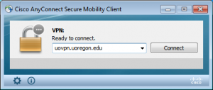 Address field to connect to UO VPN