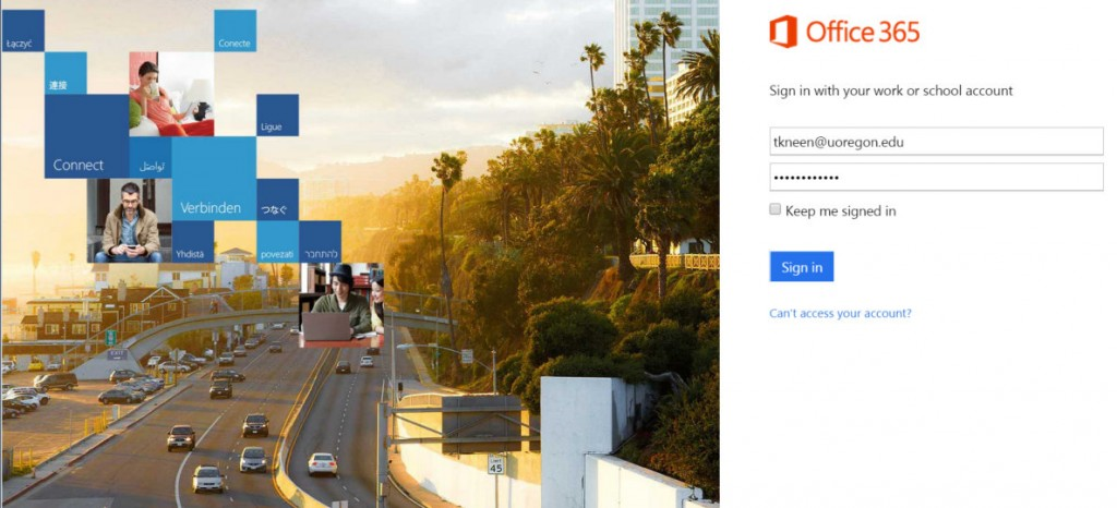 sign into office 365