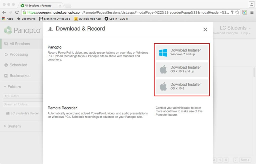 Download installer e