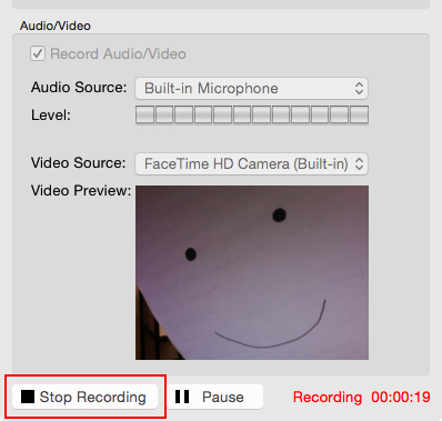 stop recording ps