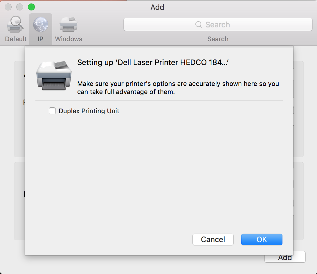 Manually Connect to a Clinic Printer – Mac | College of Education