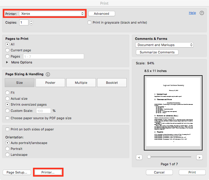 Printing from Adobe Acrobat on macOS   College of Education Tech Help