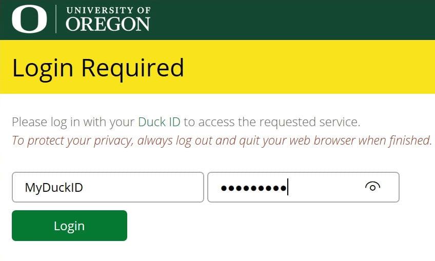 duck ID log on image