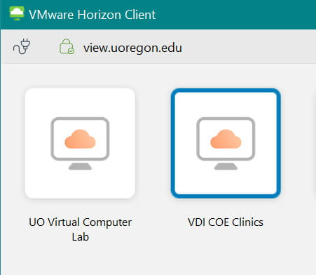 VDI VM button inage
