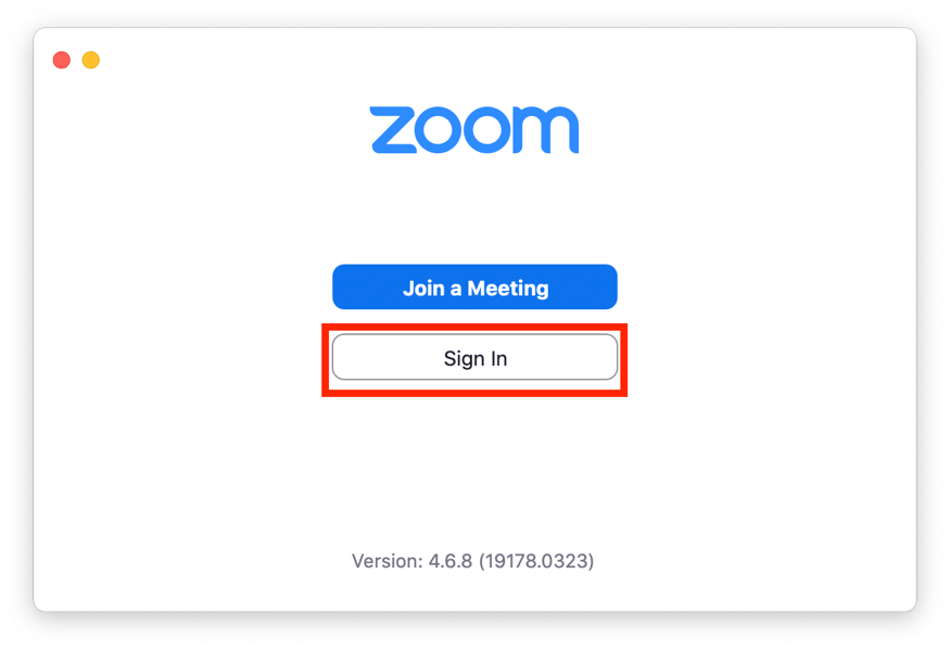 zoom sign in image