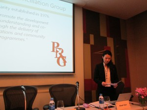CGO student staffer Mike Weinstein presents a paper at a UNESCO conference in Bangkok, Thailand, Spring 2013