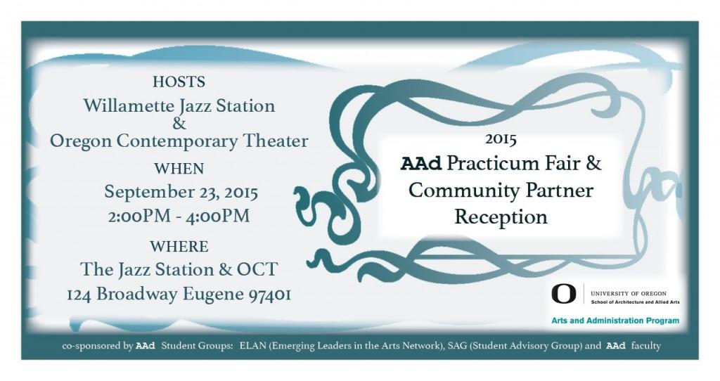2015 AAD Practicum Fair and Community Partner Reception