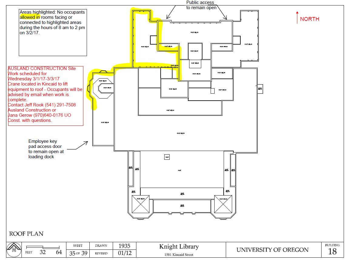 Access Crane Campus Closures Shutdowns And Detours Schematic Vacated Rooms
