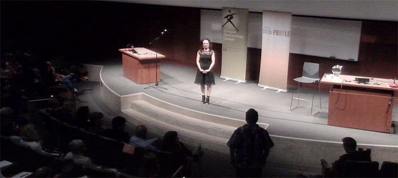 Maria Hinojosa speaking