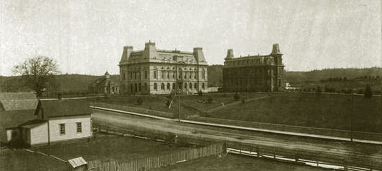 Villard and Deady Halls, historic photo