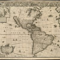 colonial map of the Americas
